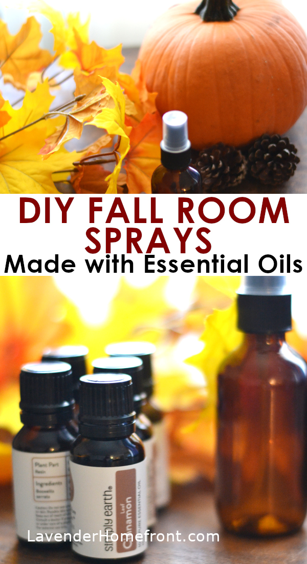 essential oil fall room sprays pinnable image