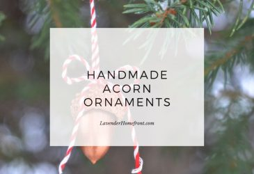 DIY acorn ornaments with text overlay main image