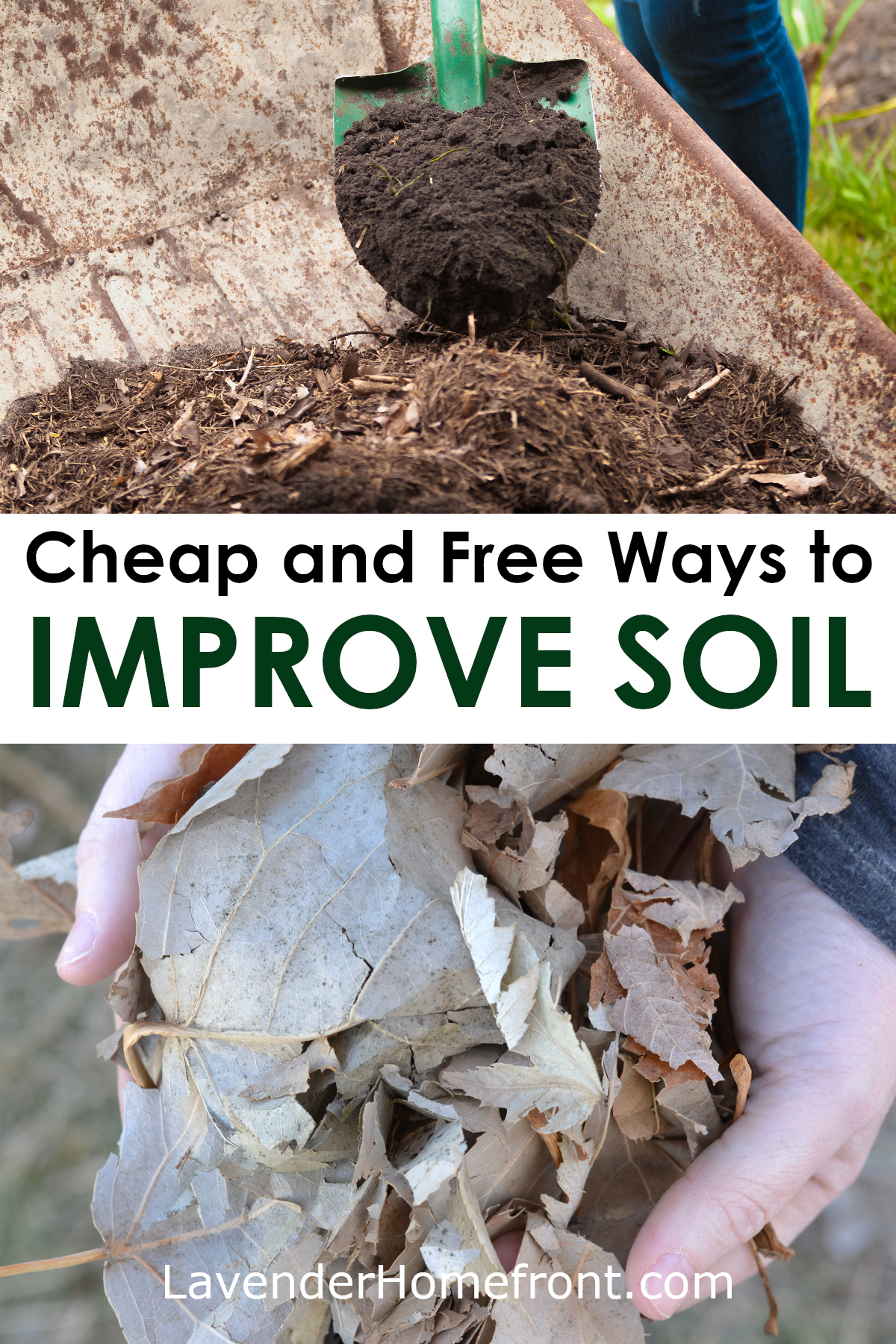Improving soil with free and cheap soil amendments pinnable image