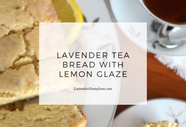 lavender tea bread with lemon glaze main image