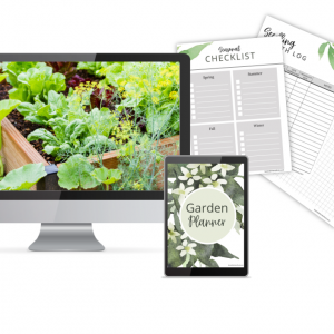 garden planner main image with multiple pages.