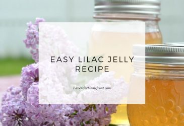 How to make lilac jelly main image with text overlay.