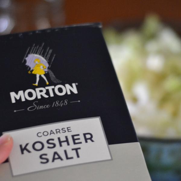 Kosher salt needed to make quality sauerkraut.
